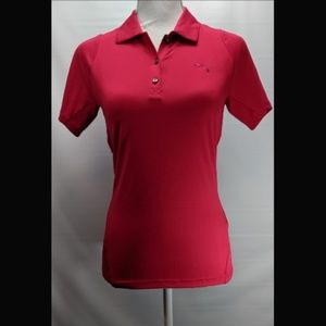 Puma Womens Top Blouse Sports Wear Red Size XS